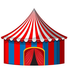 Circus tent in red and blue vector