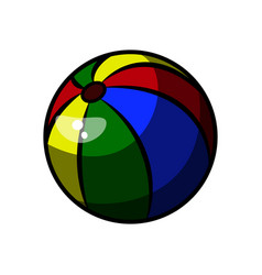 Color sketch baby beach ball vector