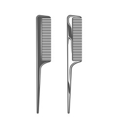 combs isolated on white background vector image