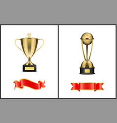 Contest or competition winner award attributes vector