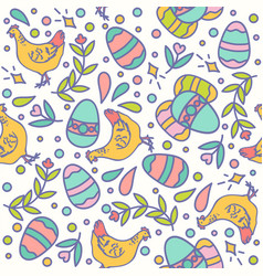 easter seamless pattern design vector image