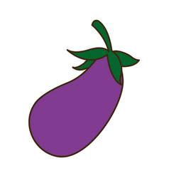 eggplant vegetable nutrition food diet vector image