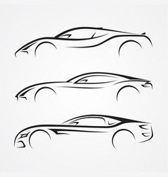 Elegance car sport element vector