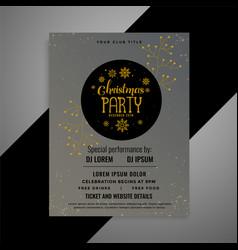 elegant christmas flyer decorative template vector image