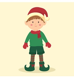 Elf Christmas Boy vector image