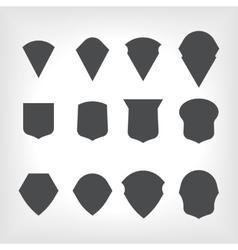emblem heraldic shields vector image