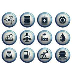 Energy and Industry icons set vector