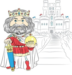 Fairytale cartoon King Charles the First vector