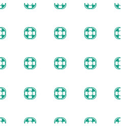 Fan icon pattern seamless white background vector