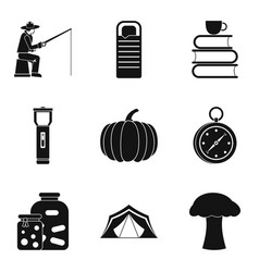 Favorite pastime icons set simple style vector