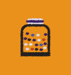 Flat icon design collection candy in jar vector