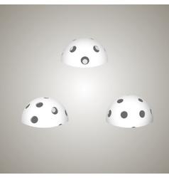 Floorball ball for logo the team vector