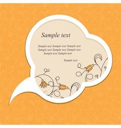 floral speech bubble vector image vector image