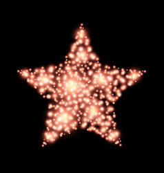 Four-pointed star abstract lights christmas vector