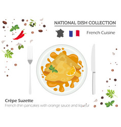 French cuisine european national dish collection vector