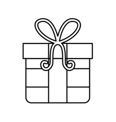 gift box with ribbon icon vector image