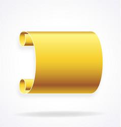 gold golden scroll banner element vector image