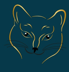 Golden cat vector image