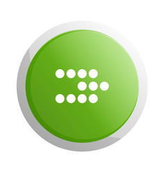 Green round button with next sign vector