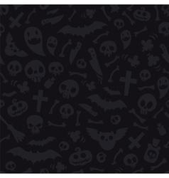 Halloween Symbols Seamless Pattern Dark vector