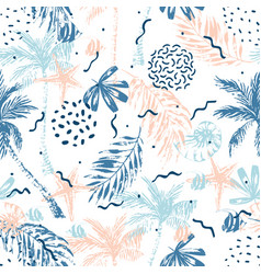 hand drawn abstract summer beach background vector image