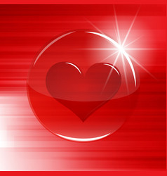 heart in a buttonsphere vector image