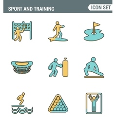 Icons line set premium quality of outdoor sports vector image