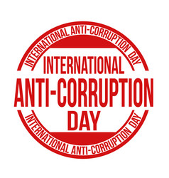 International anti-corruption day sign or stamp vector