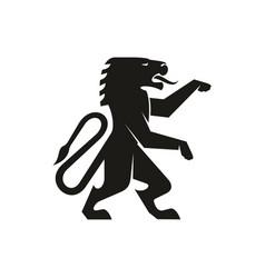 Korean dragon lion heraldry mascot isolated icon vector