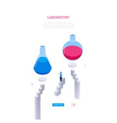 laboratory concept - modern isometric web vector image