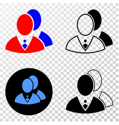 managers eps icon with contour version vector image
