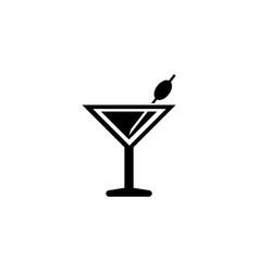 martini cocktail liquor drink flat icon vector image