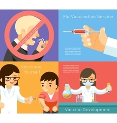 Medical flu vaccination concept background vector