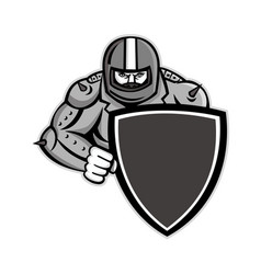Motorcycle biker with shield mascot vector