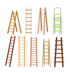 Multi-purpose set of different ladders vector