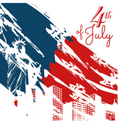 new york 4th of july design vector image