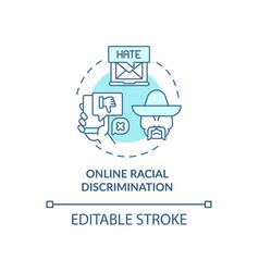 Online racial discrimination concept icon vector