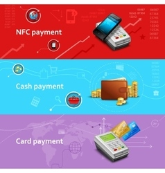 Payment banners set vector