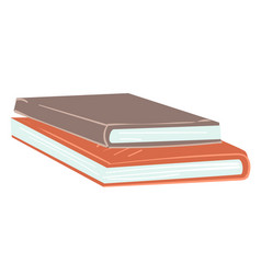 pile books in hardcover student textbooks vector image