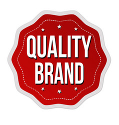 quality brand label or sticker vector image