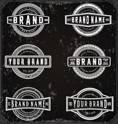 Retro Brand Labels vector image