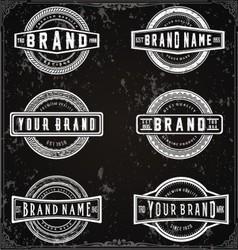 retro brand labels vector image