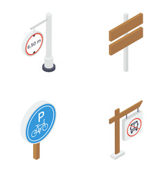 road boards isometric pack vector image