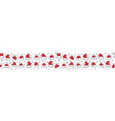 santa claus hats christmas seamless pattern for vector image