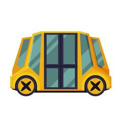 school bus students transportation modern vehicle vector image