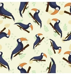 seamless texture tropical toucan vector image