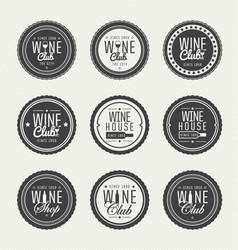 set logos for its wine business vector image