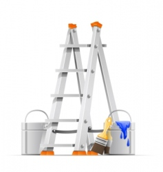 set painter tools vector image