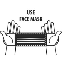 Signature use face mask vector