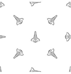 spaceship pattern seamless vector image